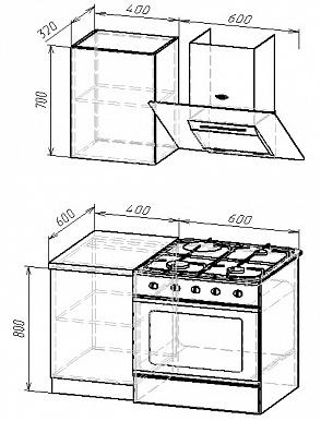 Кухонный гарнитур на 1000мм 3