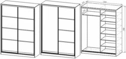 Шкаф Купе 2-х дверный пластик (шир. от 160 до 180) 2