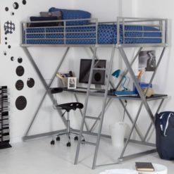 Кровать чердак металлическая «Градо 3» 1