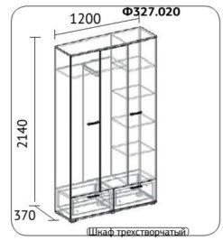 Шкаф для одежды 1200 Нюанс Ф 327.020 2