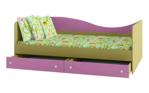 Кровать с ящиками Улыбка ДМ 3001 1