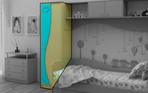 Шкаф для одежды Улыбка ДМ 3002 1