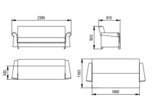 """Комплект """"Альфа книжка"""" диван и кресло 85 см 3"""