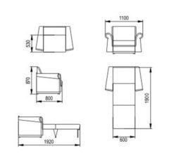 """Кресло-кровать """"Альфа"""" 60 см 2"""