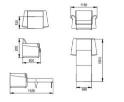 """Кресло-кровать """"Альфа"""" 70 см 2"""