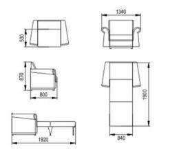 """Комплект """"Альфа""""  диван 120 см и кресло 85 см 3"""