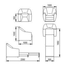"""Кресло-кровать """"Элефант"""" 2"""