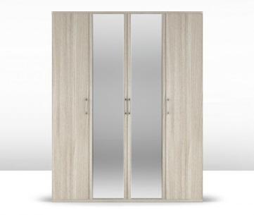 Шкаф 4-х дверный (корпус) Сорренто 1