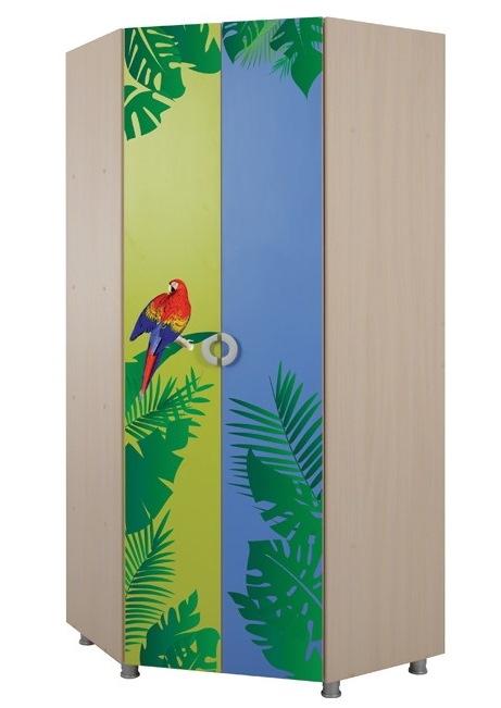 Шкаф угловой Маугли (принт джунгли) 1