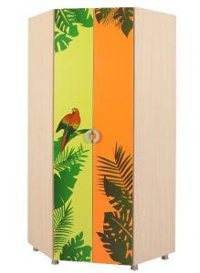 Шкаф угловой Маугли (принт джунгли) 2