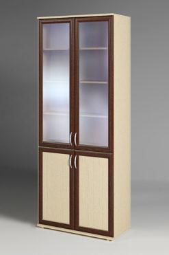 Шкаф книжный ПВ-18  (стекло прозрачное) 1