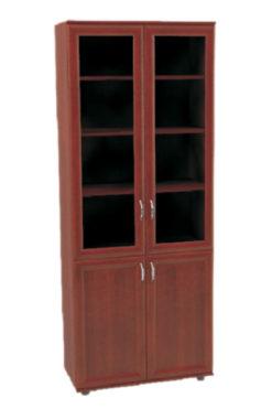 Шкаф книжный ПВ-18  (стекло прозрачное) 2