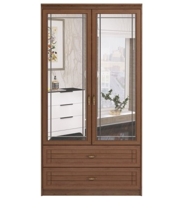Купить Шкаф с ящиками 2-х дверный с зеркалами 17 «Лондон» недорого в СПб.  Большой выбор, спец-цены, Гарантия 18 месяцев. e0494bb0cbd
