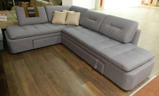 Угловой поворотный диван Вирджиния-1 с трещеткой